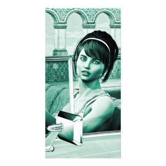 Vintage Woman Photo Greeting Card