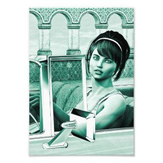 Vintage Woman Photo Print