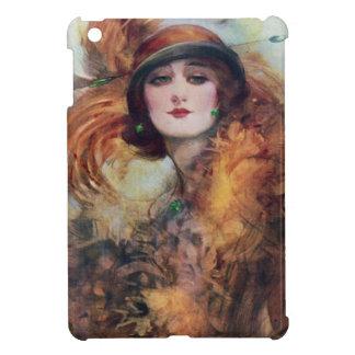 Vintage Woman Portrait 20s Flop Hat Art iPad Mini Cover
