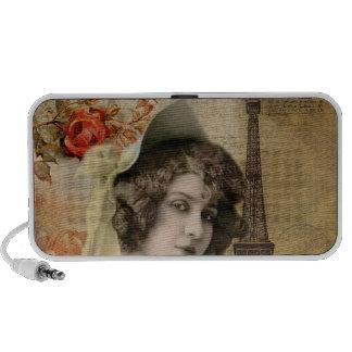 Vintage Woman Portrait, Beautiful! Notebook Speakers