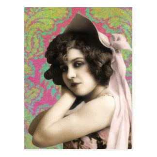 Vintage Woman Postcard