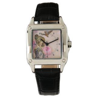 Vintage woman rose wristwatch