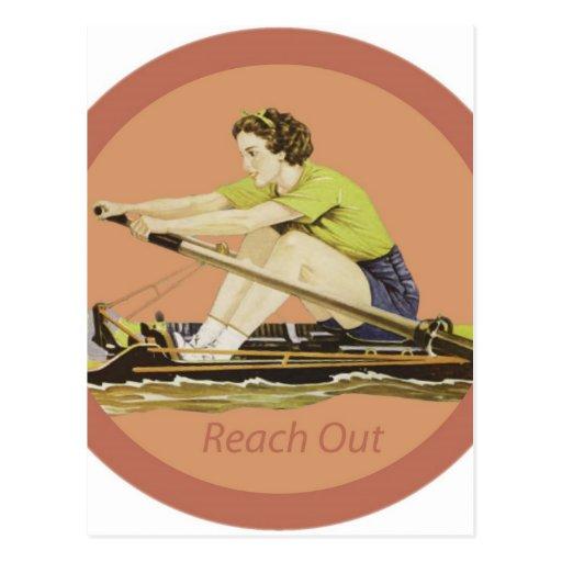 Vintage Woman Rower Post Card