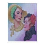 Vintage Women 1932 Postcard