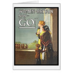 Vintage Women of Britain Say Go Recruitment Poster Greeting Cards
