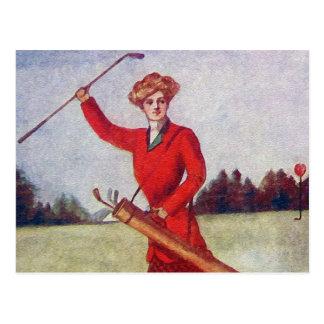Vintage Women s Golf Fashion 1910s Post Card