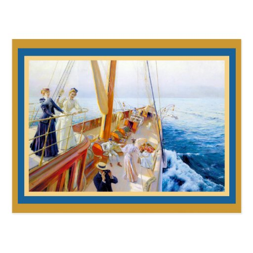 Vintage Women Yachting Post Card