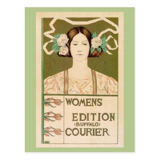 Vintage Women's Edition Buffalo Courier Postcard