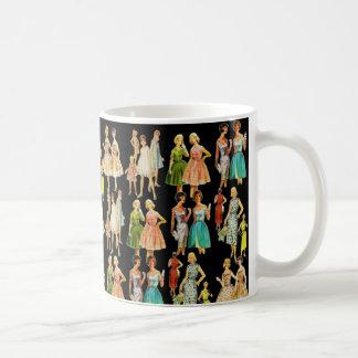 Vintage Women's Fashion Basic White Mug