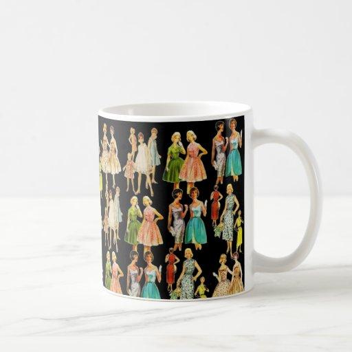 Vintage Women's Fashion Coffee Mugs