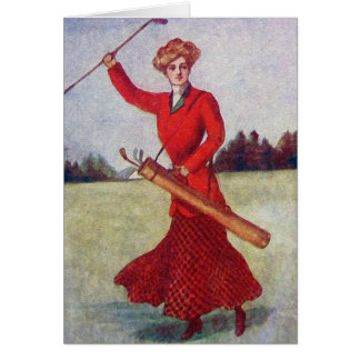 Vintage Women's Golf Fashion 1910s Card