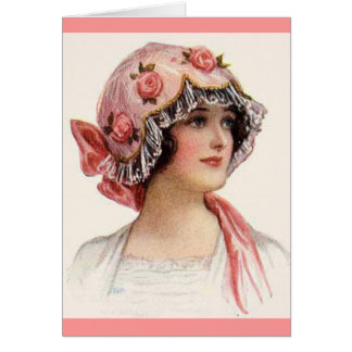 Vintage - Women's Hats Illustration Card