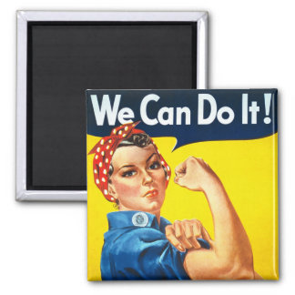 Vintage Womens Rights Ad Square Magnet