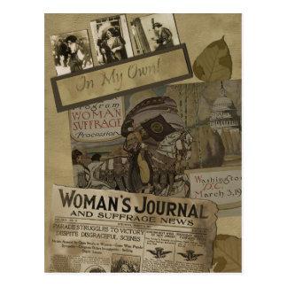 """Vintage """"Women's Suffrage"""" Scrapbook Postcard"""