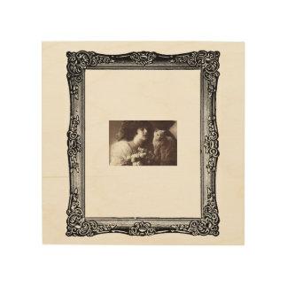 Vintage Wood Art Frame