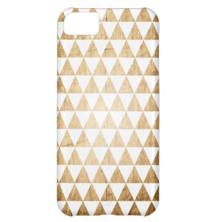 Vintage Wood Grain Geometric Triangle iPhone Case