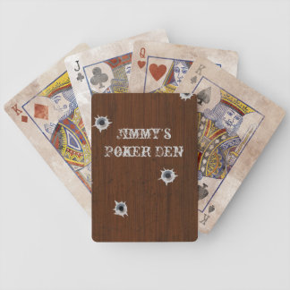 Vintage Wood Look Poker Playing Cards