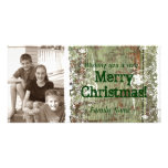 Vintage Wood Photo Christmas Card Photo Card Template