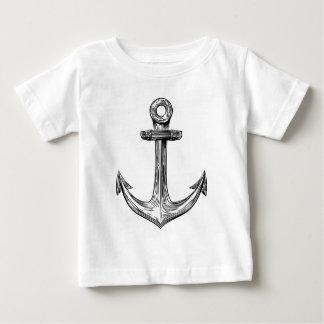 Vintage Woodcut Anchor Baby T-Shirt