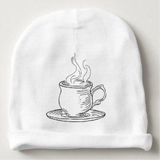 Vintage Woodcut Cup of Tea or Coffee Baby Beanie