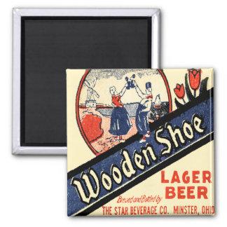 Vintage Wooden Shoe Lager Beer Magnet