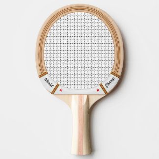 Vintage Wooden Tennis Racket Ping Pong Paddle