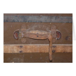 Vintage Wooden Trunk Card