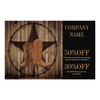 vintage woodgrain cowboy boots western country flyer