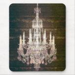 vintage woodgrain purple chandelier fashion