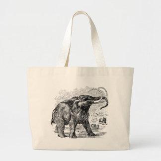Vintage Woolly Mammoth Personalized Extinct Animal Jumbo Tote Bag
