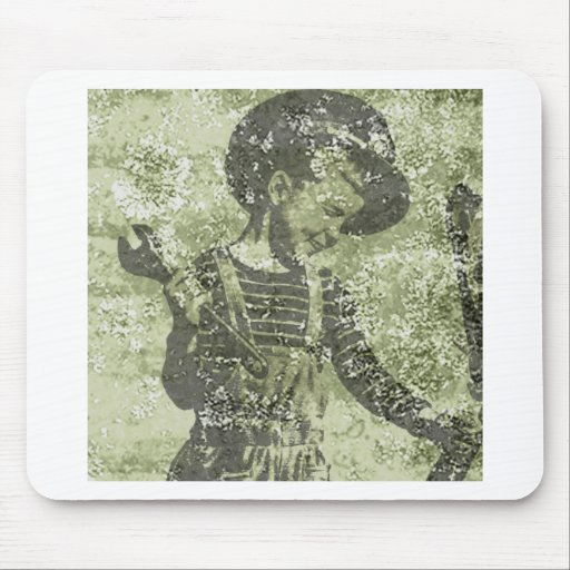 vintage work kid mousepad