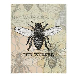 Vintage Honey Bee Posters Prints Zazzle Uk
