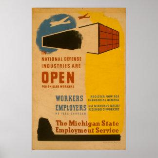 Vintage Workers WPA Poster