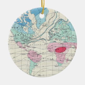 Vintage World Climate Map (1870) Christmas Ornament