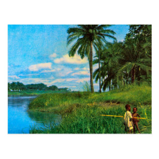Vintage world images, Angola, upper River Cuanza Postcard