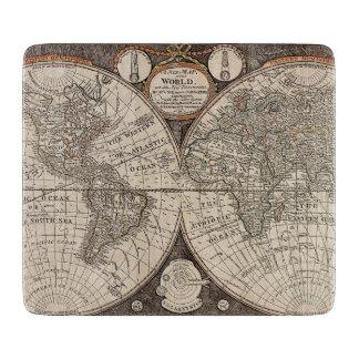 Vintage World Map (1766) Cutting Board