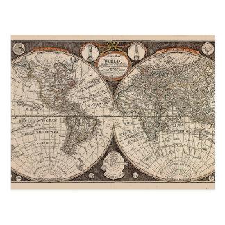 Vintage World Map (1766) Postcard