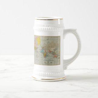 Vintage World Map 1910 Beer Steins