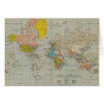 Vintage World Map 1910 Greeting Card