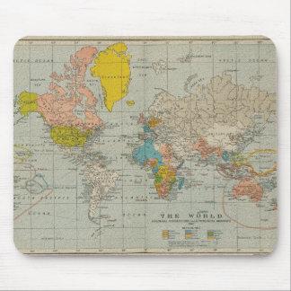 Vintage World Map 1910 Mouse Mat