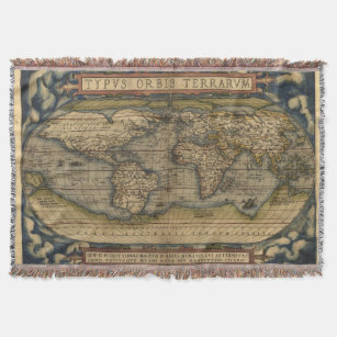 World map blankets bed blankets zazzle uk vintage world map afghan throw blanket gumiabroncs Images