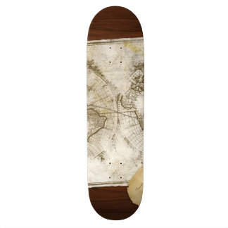 Vintage World Map And Tools Skate Board Decks