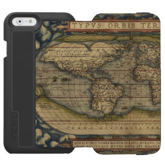 Vintage World Map Antique Atlas Incipio Watson™ iPhone 6 Wallet Case