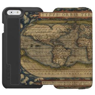Vintage World Map Antique Atlas Incipio Watson™ iPhone 6 Wallet Case
