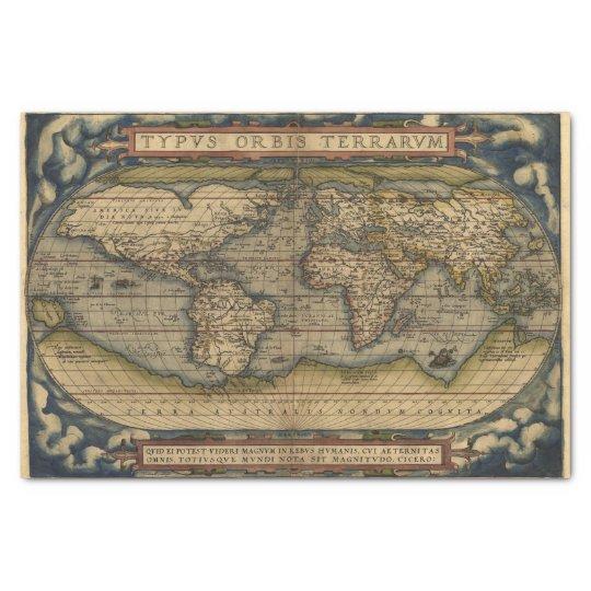 Vintage world map antique atlas tissue paper zazzle vintage world map antique atlas tissue paper gumiabroncs Gallery