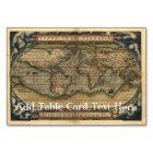 Vintage World Map Atlas Historical Card