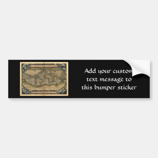 Vintage World Map Atlas Historical Design Bumper Sticker