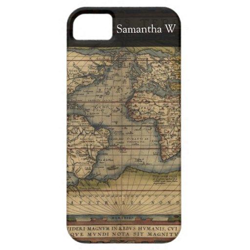 Vintage World Map Atlas Historical Design iPhone 5 Cover