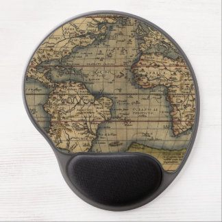 Vintage World Map Atlas Historical Design Gel Mouse Pad