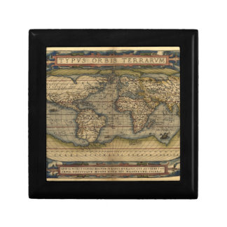 Vintage World Map Atlas Historical Design Gift Box